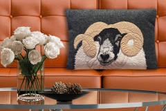 The Canny Squirrel_Harris Tweed black faced sheep cushion_£85
